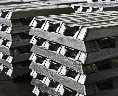 Timco aluminum ingots in warehouse
