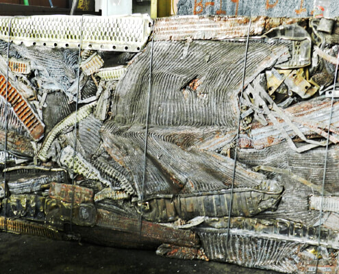 Standard scrap ready for processing