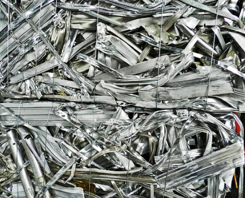 Standard aluminum scrap ready for processing