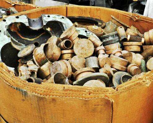 Standard copper scrap ready for processing